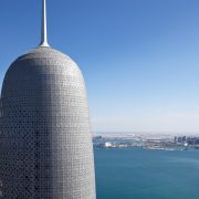 Intumescent coating on Doha tower Qatar