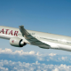 Aerospace coating applied on a Qatari aircraft