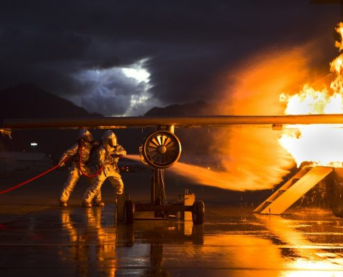 fire resistant paint or steel on aeroplane prevent explotion