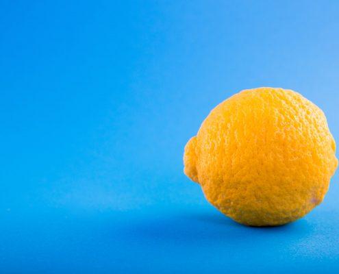 hygienic coating for floors with lemon