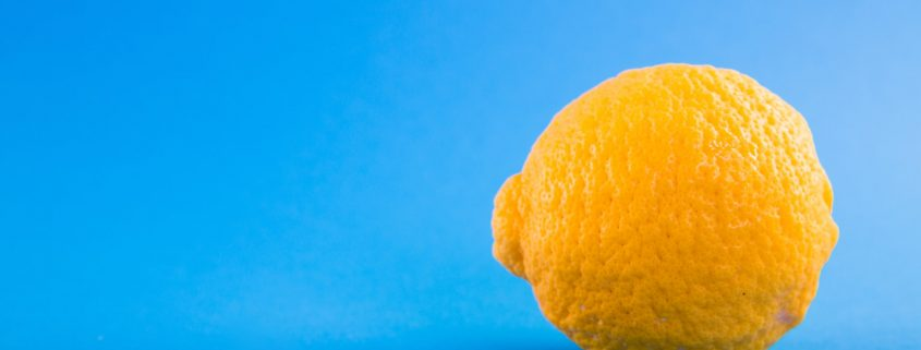 hygienic coating for floors with lemon
