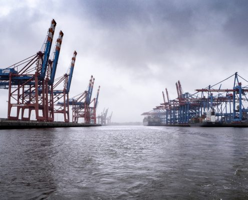polyurea coating applied in a harbor