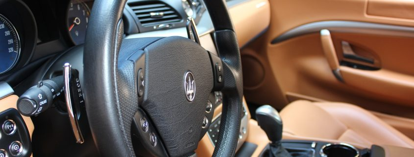 soft touch automotive plastic coating on brown leather