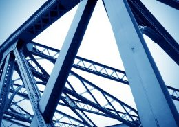 polyurethane paint on steel structure