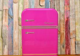 Pink fridge by powder coating appliances