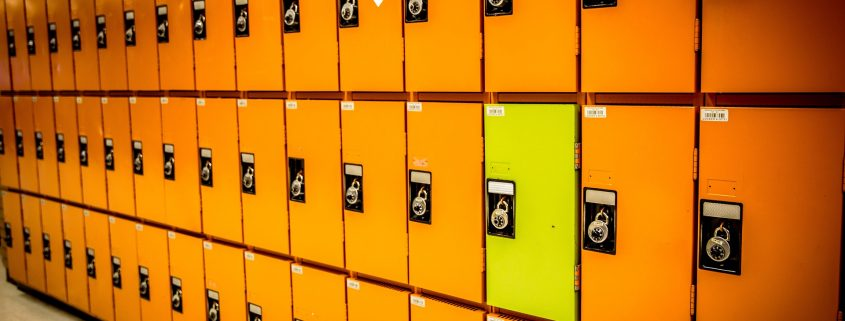 powder coating furniture results in durable finish on lockers